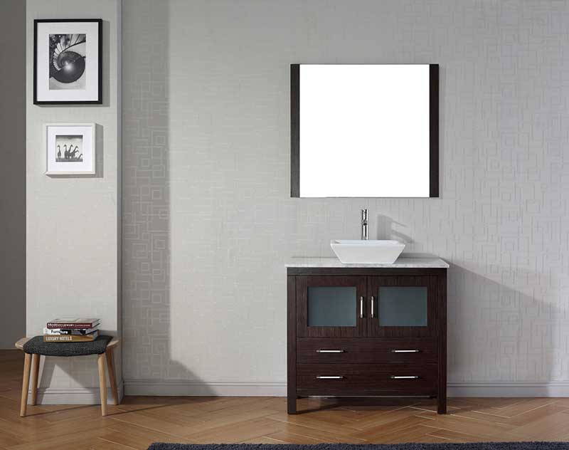 Virtu USA Dior 30 Single Bathroom Vanity Set in Espresso