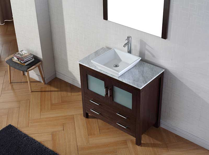 Virtu USA Dior 30 Single Bathroom Vanity Set in Espresso 3