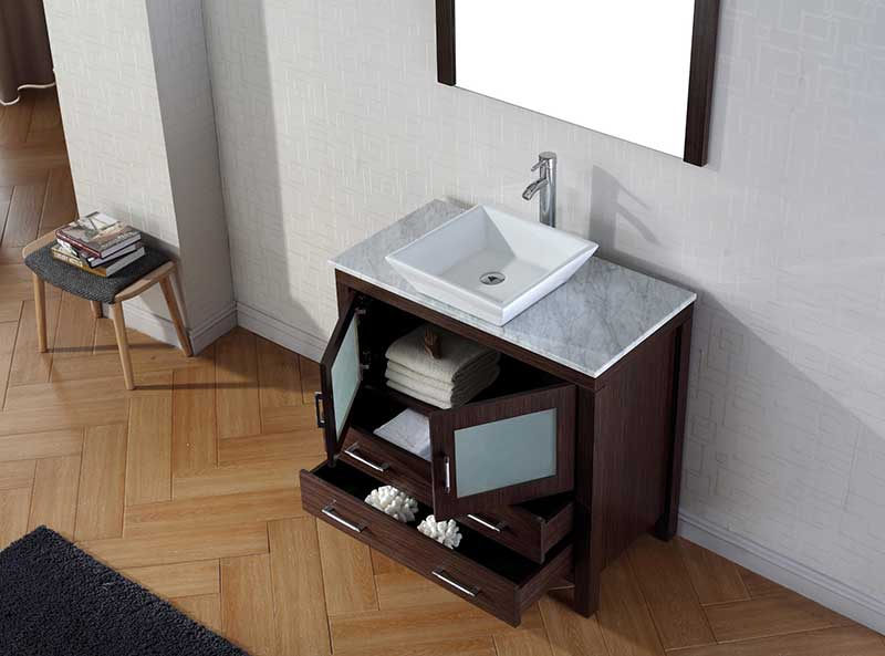 Virtu USA Dior 30 Single Bathroom Vanity Set in Espresso 4