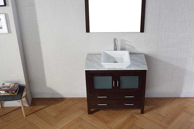 Virtu USA Dior 30 Single Bathroom Vanity Set in Espresso 5