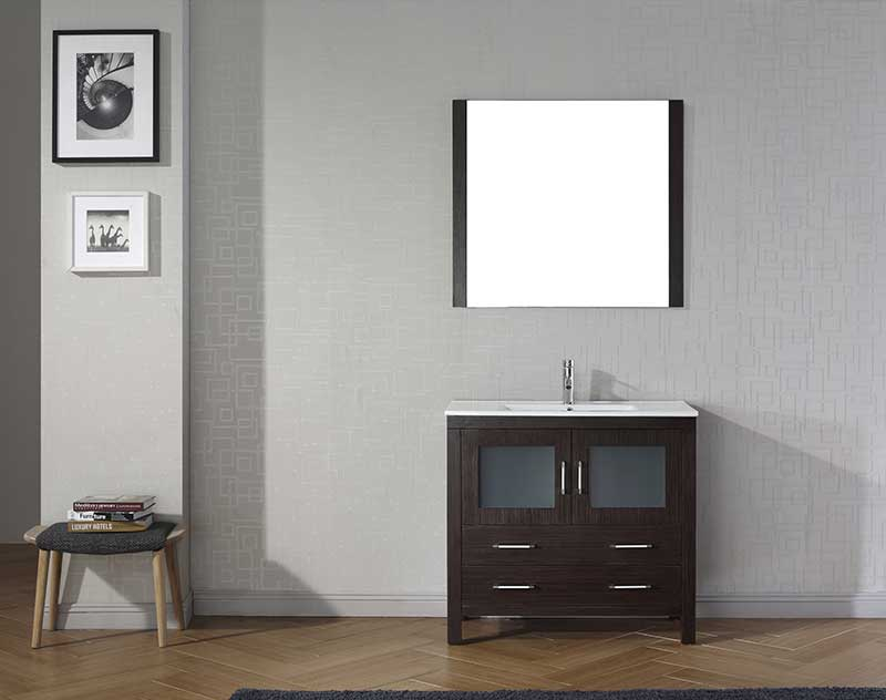 Virtu USA Dior 36 Single Bathroom Vanity Set in Espresso