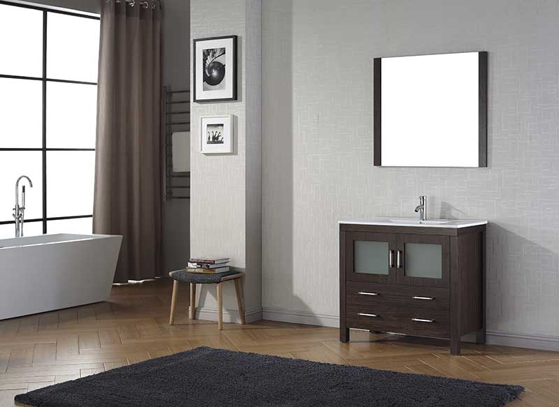 Virtu USA Dior 36 Single Bathroom Vanity Set in Espresso 2