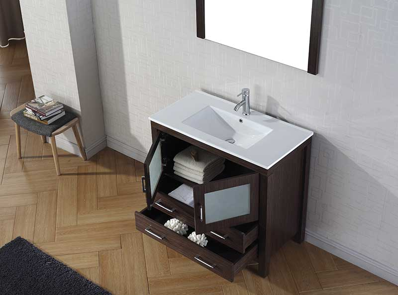 Virtu USA Dior 36 Single Bathroom Vanity Set in Espresso 4