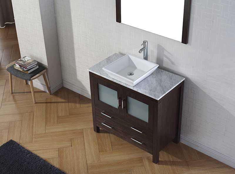 Virtu USA Dior 36 Single Bathroom Vanity Set in Espresso 3