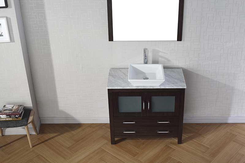 Virtu USA Dior 36 Single Bathroom Vanity Set in Espresso 5