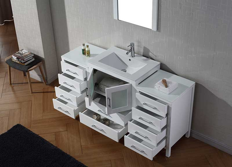 Virtu USA Dior 64 Single Bathroom Vanity Set in White 4