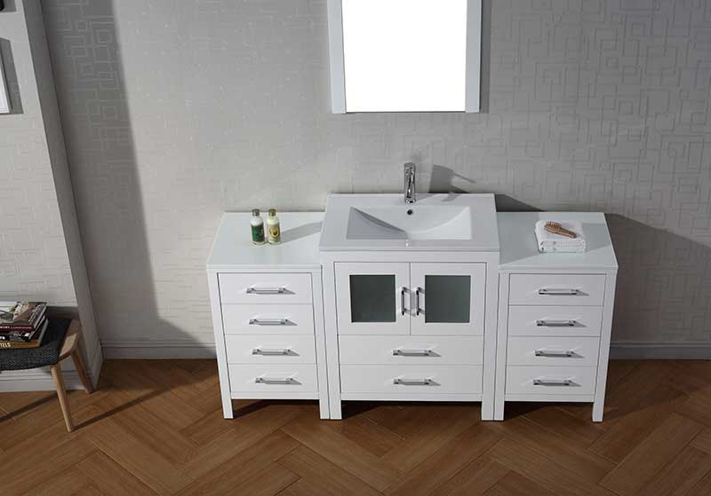Virtu USA Dior 64 Single Bathroom Vanity Set in White 5