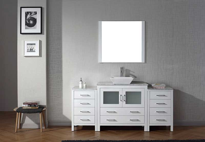 Virtu USA Dior 68 Single Bathroom Vanity Set in White