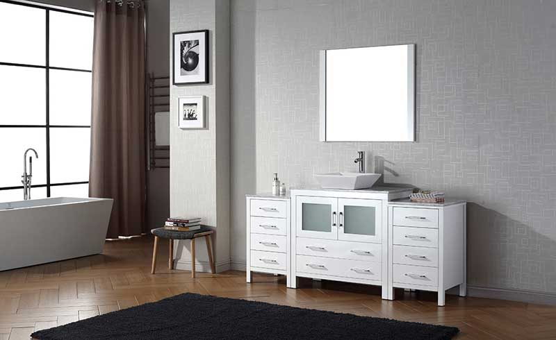 Virtu USA Dior 68 Single Bathroom Vanity Set in White 2
