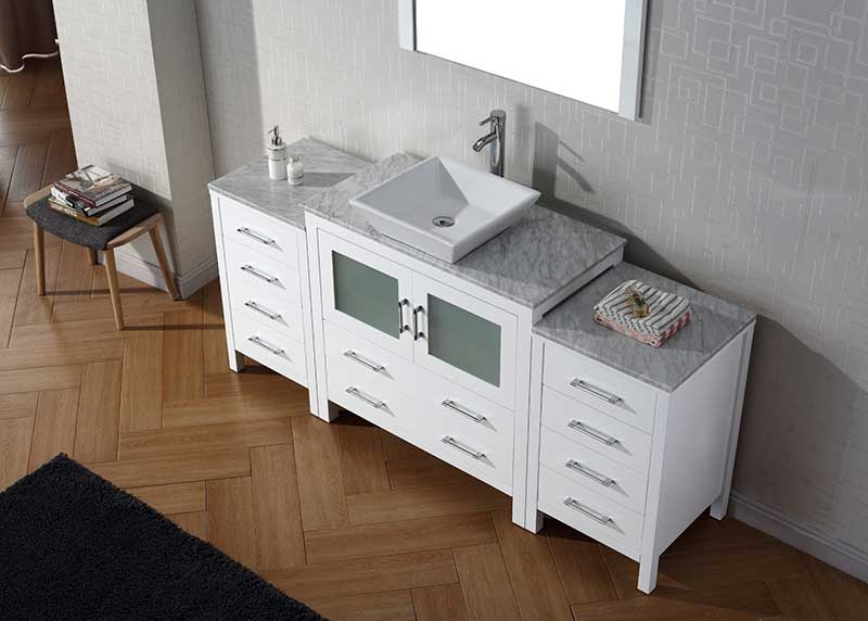 Virtu USA Dior 68 Single Bathroom Vanity Set in White 3