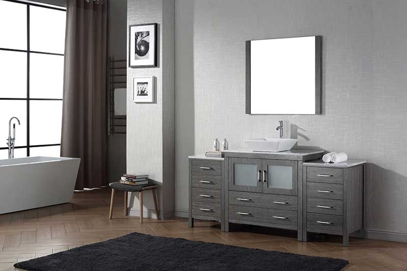 Virtu USA Dior 68 Single Bathroom Vanity Set in Zebra Grey 2