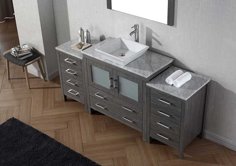 Virtu USA Dior 68 Single Bathroom Vanity Set in Zebra Grey 3