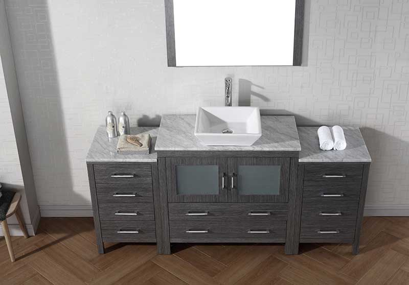 Virtu USA Dior 68 Single Bathroom Vanity Set in Zebra Grey 5