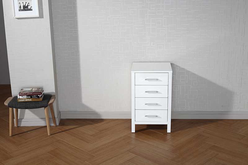 Virtu USA Dior 18 Modern Side Cabinet in White
