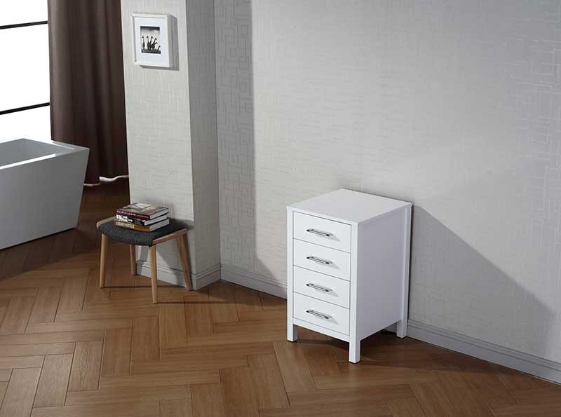 Virtu USA Dior 18 Modern Side Cabinet in White 2