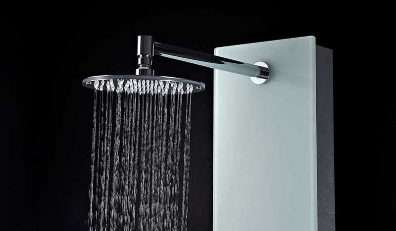 Anzzi MARE Series 60 in. Full Body Shower Panel System with Heavy Rain Shower and Spray Wand in White 7
