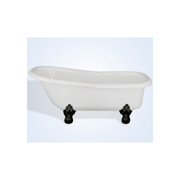 Restoria Imperial 66-inch Slipper Acrylic Clawfoot Tub by Restoria - No Faucet Drillings
