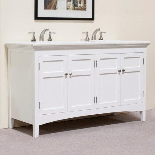 "Legion Furniture 60"" Woodbridge Double Sink Vanity Set"
