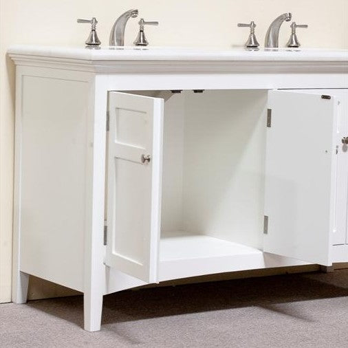 "Legion Furniture 60"" Woodbridge Double Sink Vanity Set 2"