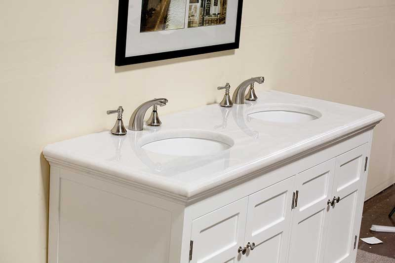 "Legion Furniture 60"" Woodbridge Double Sink Vanity Set 4"