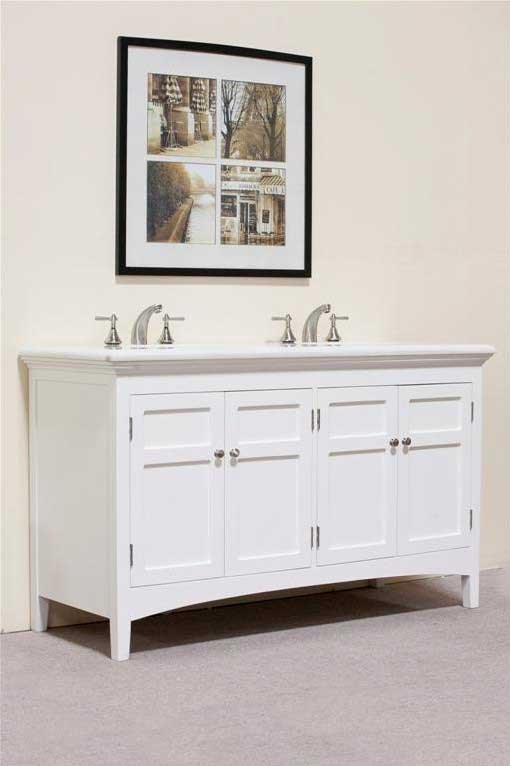 "Legion Furniture 60"" Woodbridge Double Sink Vanity Set 5"
