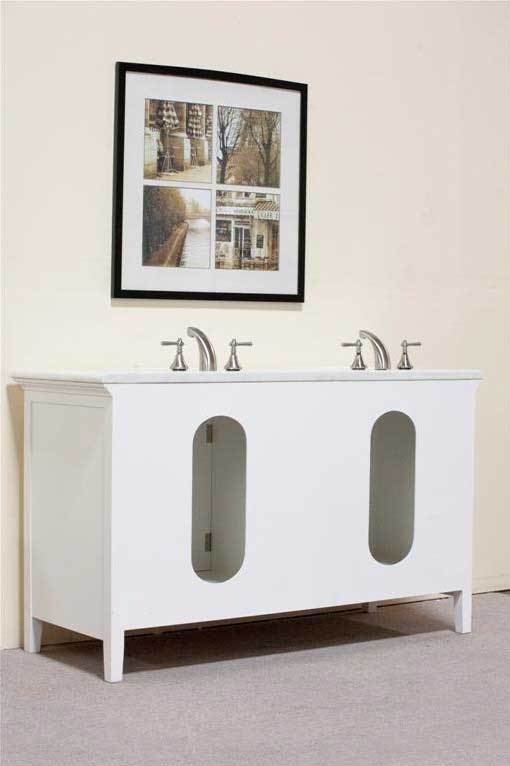 "Legion Furniture 60"" Woodbridge Double Sink Vanity Set 7"