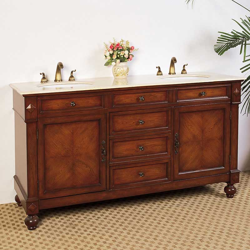 "Legion Furniture 63"" Hatherleigh Sink Chest Vanity Set"