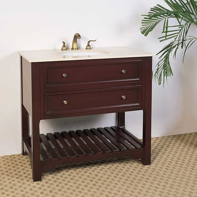 "Legion Furniture 36"" Hatherleigh Sink Chest Vanity Set"