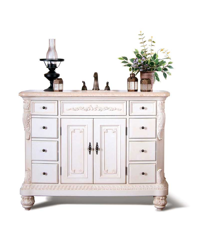 "Legion Furniture 48"" Queen Street Sink Chest Vanity Set"