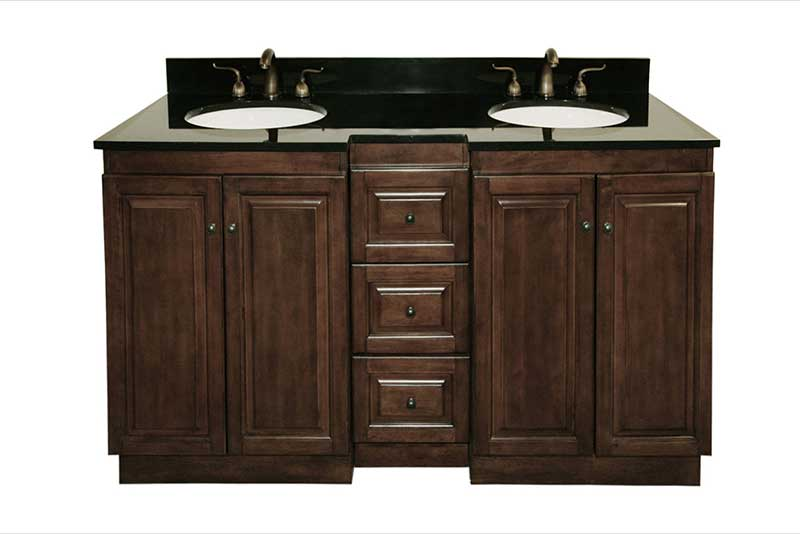 "Legion Furniture 61"" Double Bathroom Vanity Set with 3 Drawer"