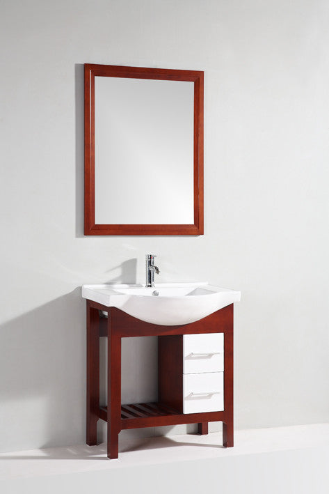 "Legion Furniture 30"" Single Bathroom Vanity Set with Mirror"
