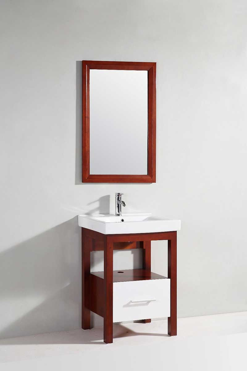 "Legion Furniture 24"" Single Bathroom Vanity Set with Mirror"