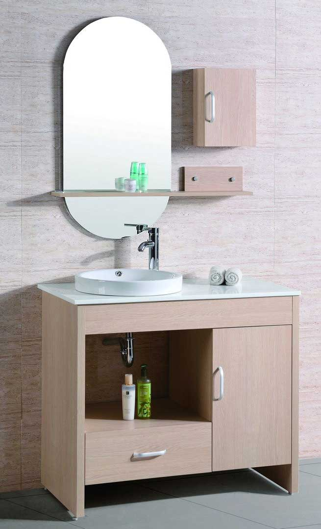 "Legion Furniture 39"" Vanity Set with Mirror and Side Cabinet"