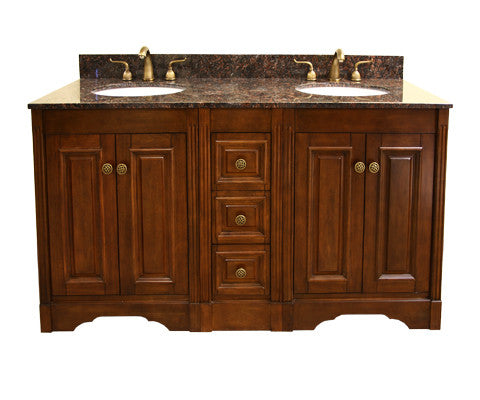 "Legion Furniture 61"" Double Sink Vanity Set with Soft Close Doors"