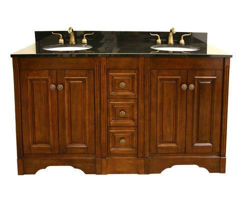 "Legion Furniture 61"" Double Sink Vanity Set with Soft Close Doors 2"