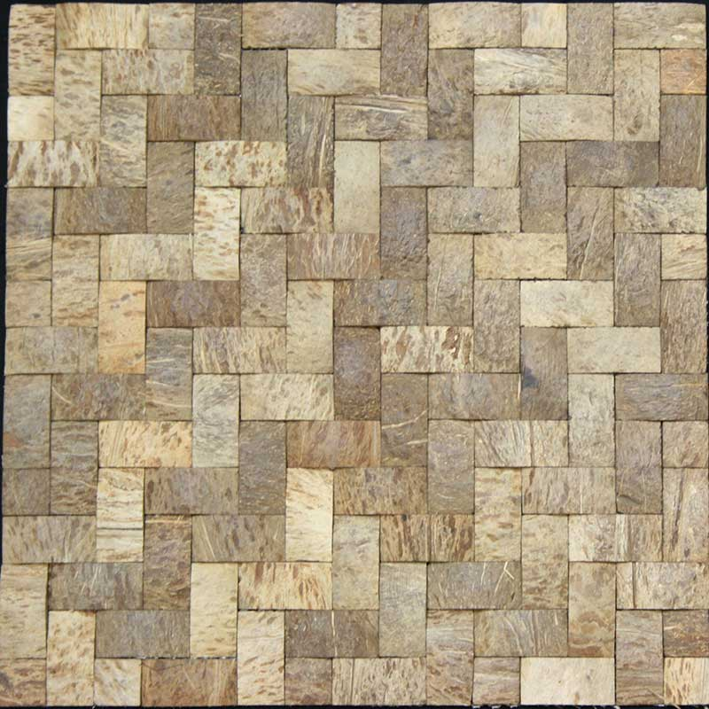 "Legion Furniture 1-1/2"" x 3/4"" Coconut Tile"