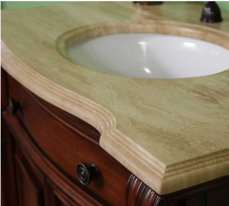"Legion Furniture 36"" Solid Wood Single Travertine Vanity Set 4"
