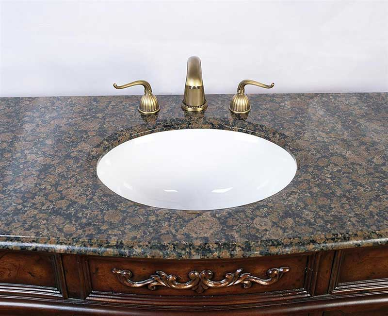 "Legion Furniture 60"" Sink Vanity - No Faucet Antique Brown 4"
