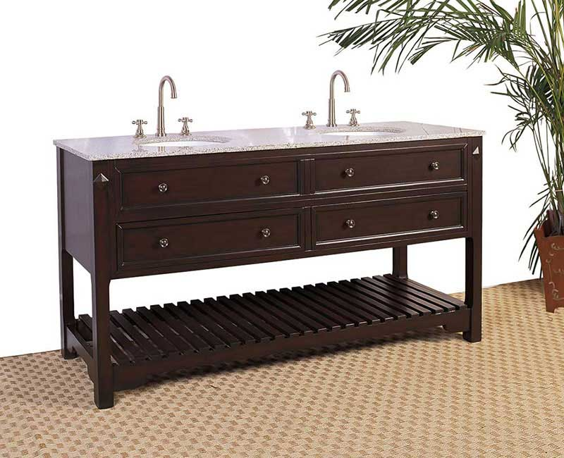 "Legion Furniture 68"" Sink Vanity - No Faucet Cherry"
