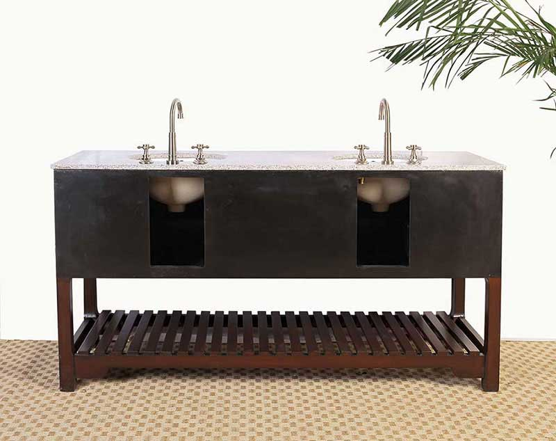 "Legion Furniture 68"" Sink Vanity - No Faucet Cherry 3"
