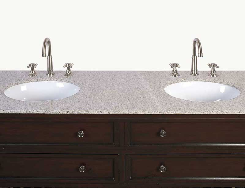 "Legion Furniture 68"" Sink Vanity - No Faucet Cherry 4"