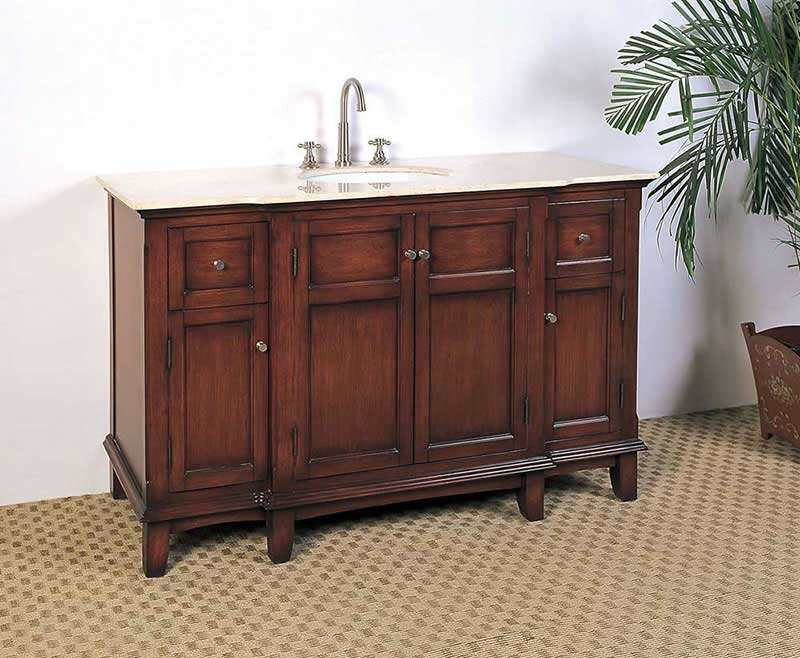 "Legion Furniture 53"" Sink Vanity - No Faucet Medium Brown"