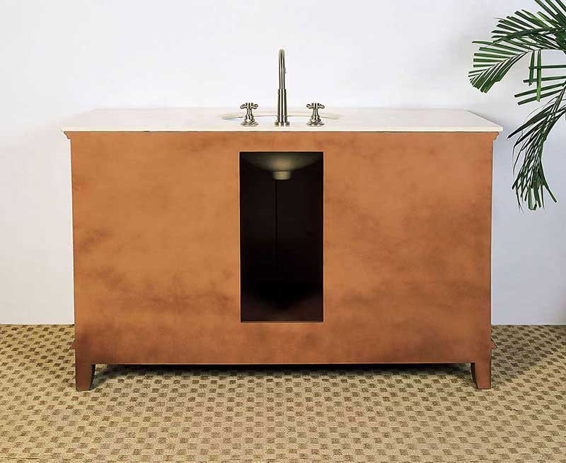 "Legion Furniture 53"" Sink Vanity - No Faucet Medium Brown 3"