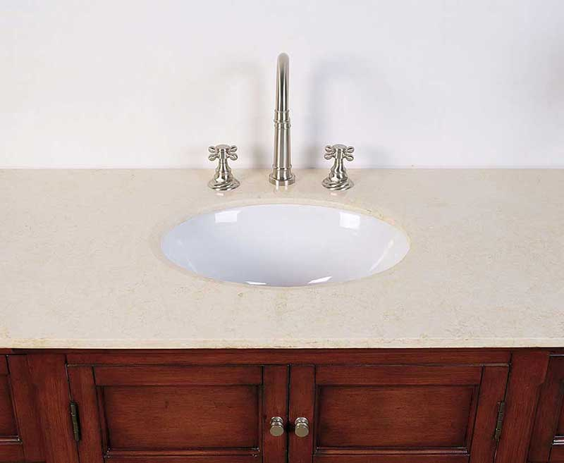 "Legion Furniture 53"" Sink Vanity - No Faucet Medium Brown 4"