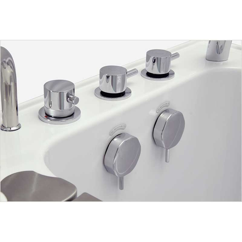 Ella's Bubbles 9305 Deluxe Acrylic Dual Massage Walk-In Tub 13