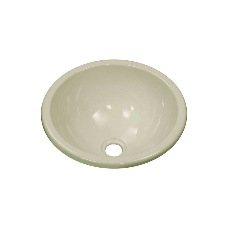 "Lyons Industries DKSEN09-1.5 Biscuit 12.75"" in Diameter Round Acrylic Entertainment Sink with a 1.5"" Drain Opening"