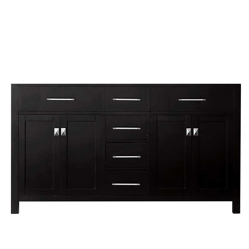 Virtu USA Caroline 60 Bathroom Vanity Cabinet in Espresso