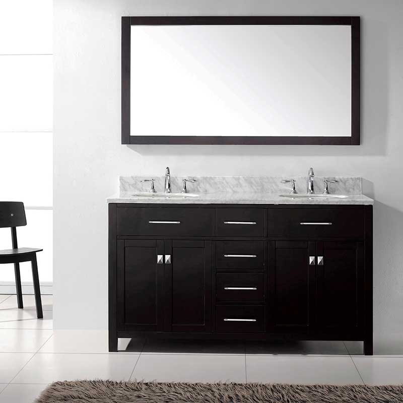 Virtu USA Caroline 60 Bathroom Vanity Cabinet in Espresso 2