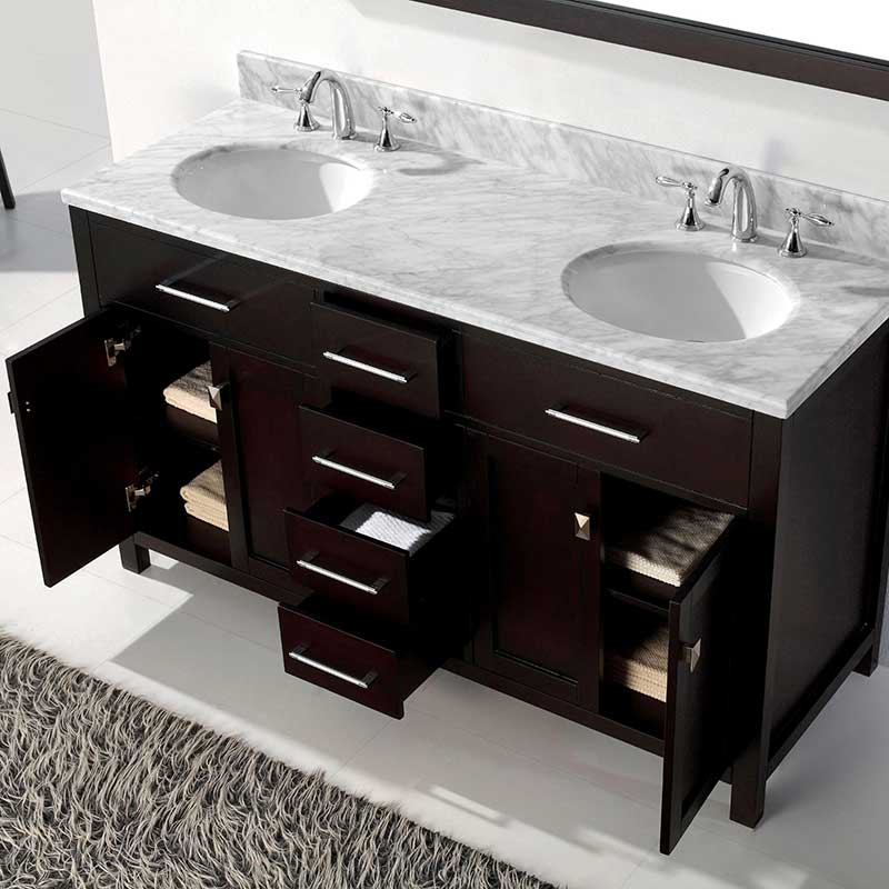 Virtu USA Caroline 60 Bathroom Vanity Cabinet in Espresso 4