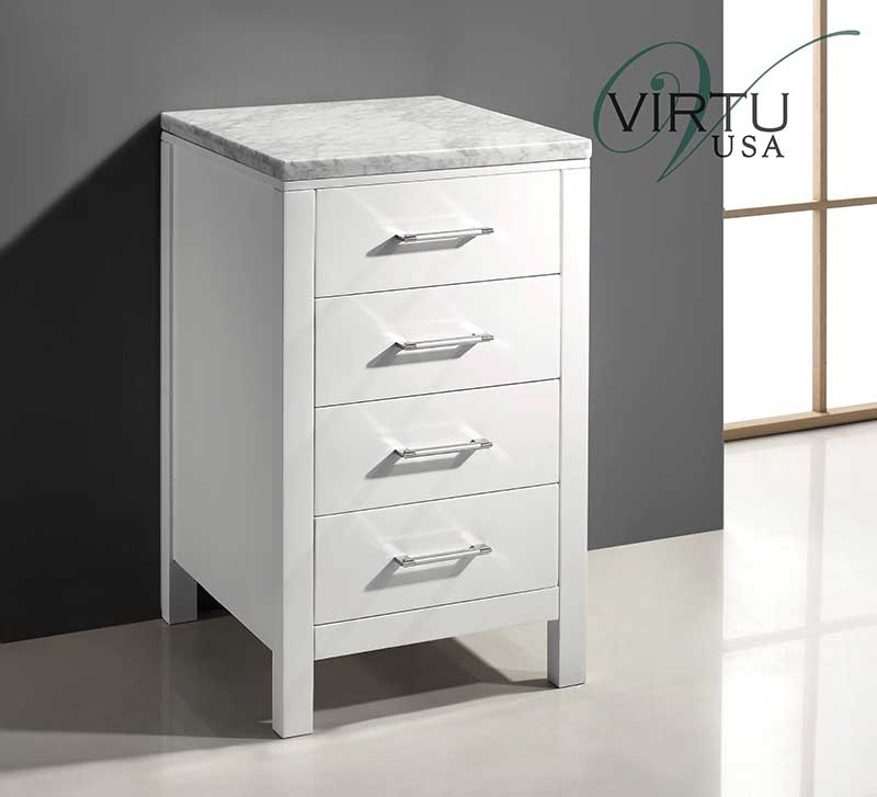 Virtu USA Caroline Parkway 20 Transitional Side Cabinet in White 2